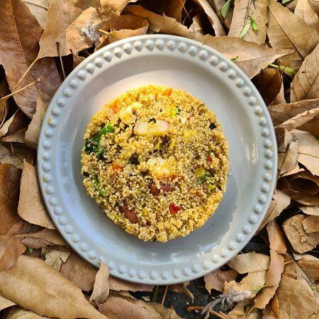 Quinoa con verduras y menta