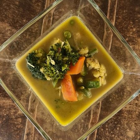 Verduras al curry y coco